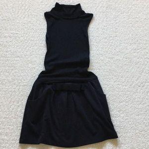 Candie's black sleeveless knit drop waist dress